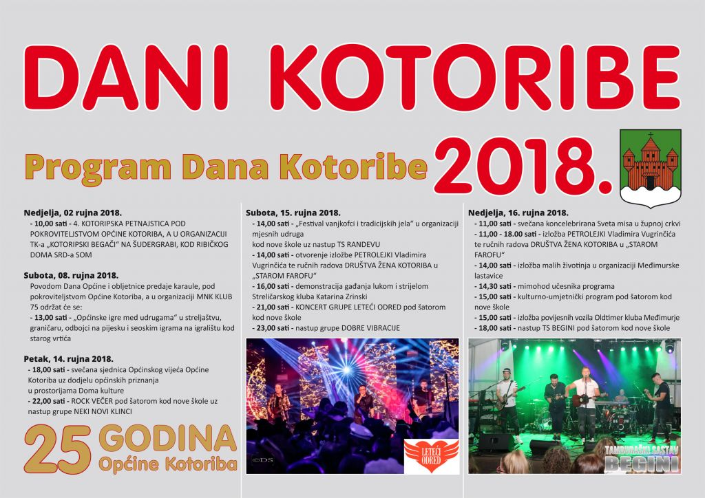 Program Dani Kotoribe 2018.